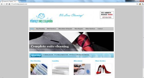 Perfect Dry Cleaners Web Design - Website Design Companies London