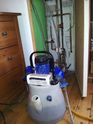 Power flushing a central heating system - Gas Fitters Bristol
