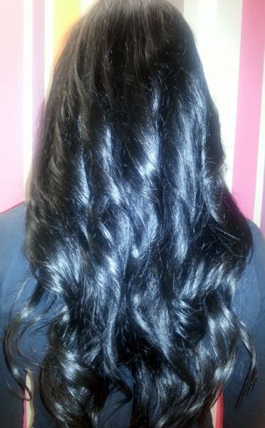 Ebony and ivory hair extensions