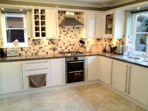 Inspired by you kitchens kitchen fitter in ipswich uk for Cream kitchen carcasses