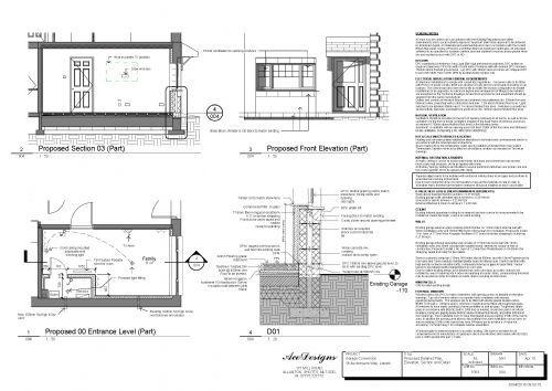 Ace designs scotland maz plans architectural service for Plans for garage conversion
