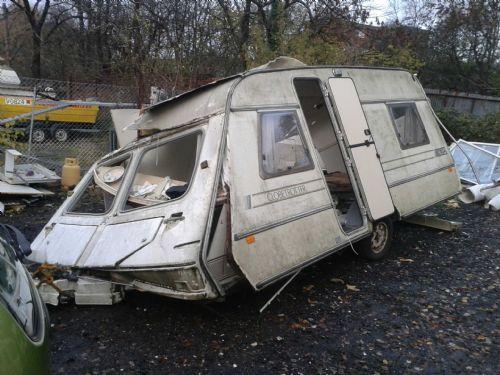 Caravan scrap yards