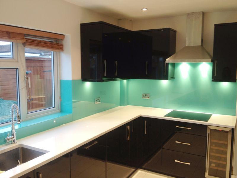 Coloured Glass Splashback Template
