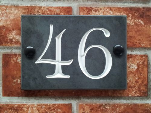 House Number Plaques Slate: House Signs Company In Sandown (UK