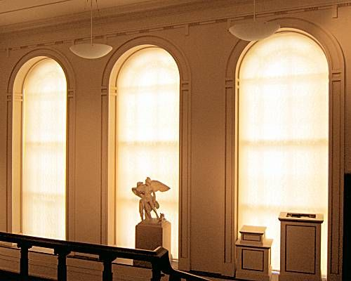 Roller Blind Filters installed at the Ashmolean Museum, Oxford - Window Blind Suppliers Northampton