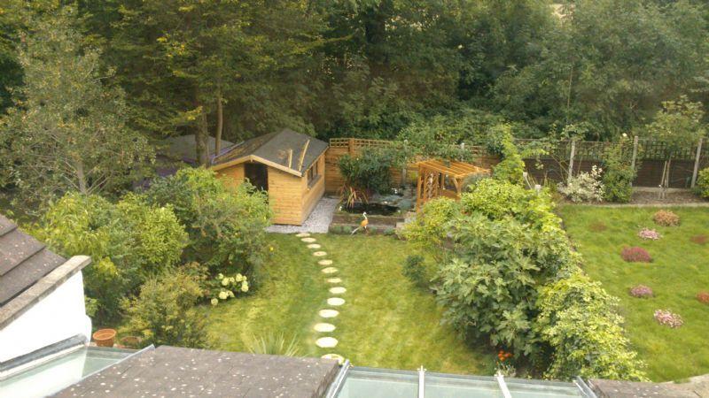 Garden Design Enfield : Waterfall garden landscaping landscape gardener in enfield uk