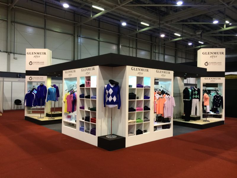Exhibition Stand Fitters : Blue insignia shop fitting signage exhibition stands