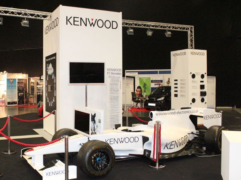 Exhibition Stand Builders Northampton : Gp race driver simulator rides and inflatables supplier