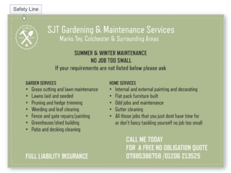 Sjt garden home maintenance services gardener in marks for Home gardening services