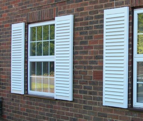 Town & Country synthetic wood shutter [Carbrooke] - Shutter Companies Brandon