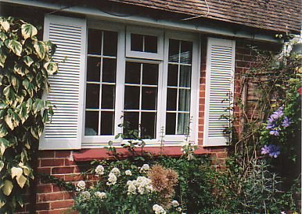 Traditional Louvre UPVC decorative shutters - Shutter Companies Brandon