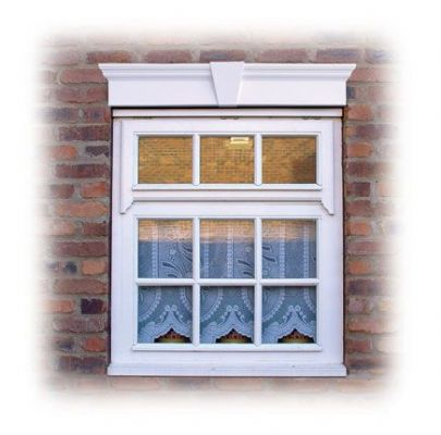 UPVC Window Header [with keystone] - Shutter Companies Brandon