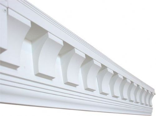 UPVC Exterior Dentil Trim [Exterior Coving] Scalloped Tooth - Shutter Companies Brandon