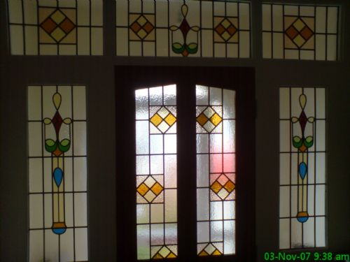 Shore edge glass designs stained glass window company in for 1930s stained glass window designs