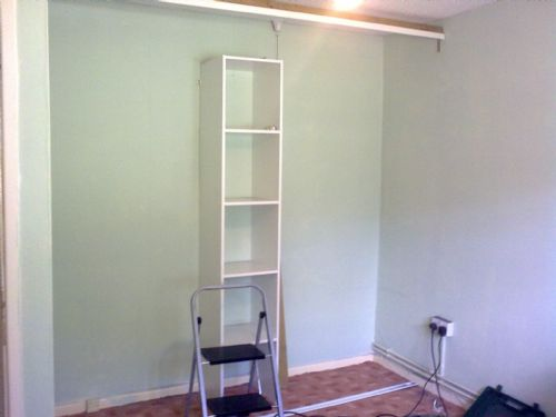 Handyman service fitted wardrobe start of job. - Home and Garden Maintenance Companies Cardiff
