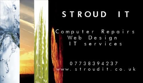 Stroud IT Business Card - Website Design Companies Stroud