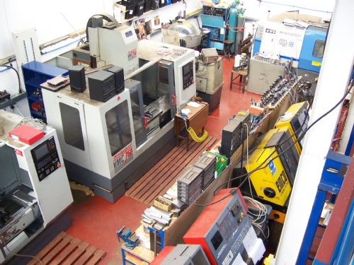 Picture of our machine shop