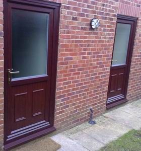Value doors door manufacturer in chelmsford uk cm2 6nd for Brown upvc patio doors