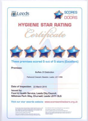 Leeds City Council Food Hygiene Certificate