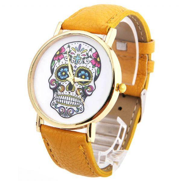 Купить дешевые часы с черепом