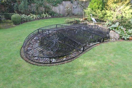 Elite pond covers metal fabrication company in for Garden pond guards
