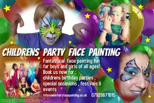 Neon Fairy Face Painting Basingstoke Face Painter