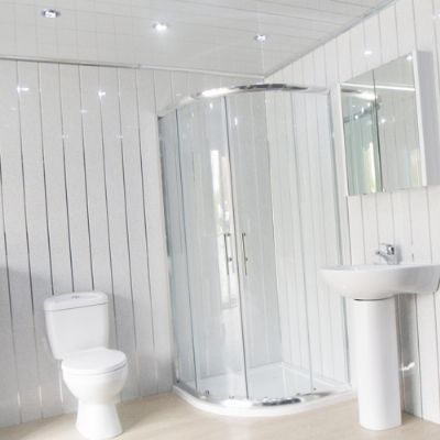 Bathroom Cladding Shop Chester Le Street Reviews Bathroom - White sparkle bathroom cladding