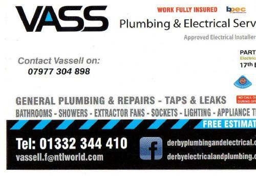 VASS Plumbing & Electrical Derby, Derby | 84 reviews | Electrical