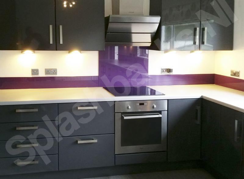 Splashbacks ni glass splashbacks and worktops supplier for Uplifters kitchen