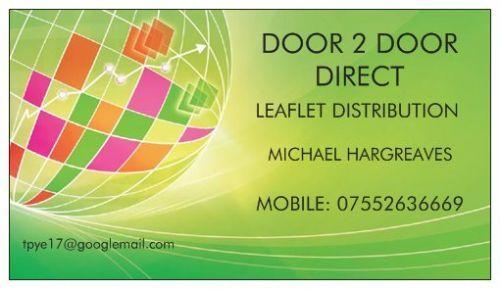 Door 2 door northwest leaflet distributor in preston uk for Door 2 door leaflets
