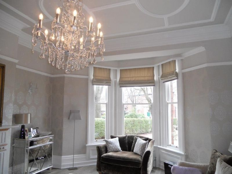 Amanda baker soft furnishings soft furnishings supplier for Roman shades for bay window