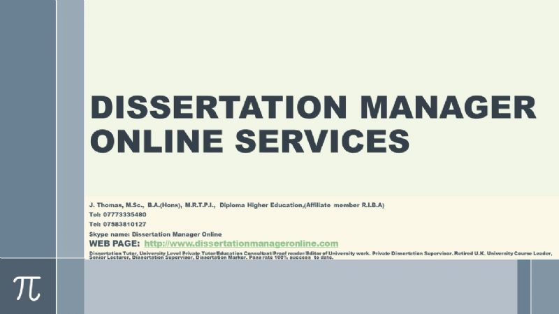 Dissertation manager online reviews
