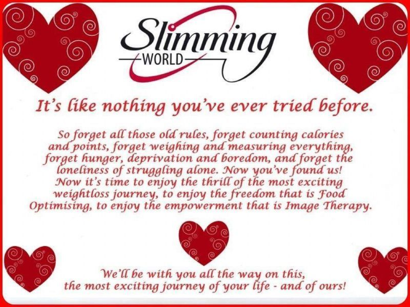 Slimming world weight loss programme in didcot uk One you slimming world