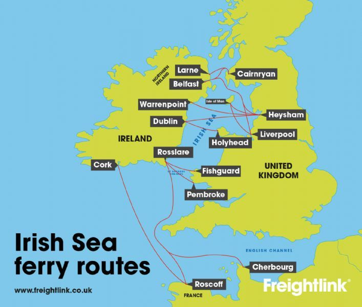 Map Of Uk Ferry Routes.Freightlink Solutions Preston Freight Forwarding Freeindex