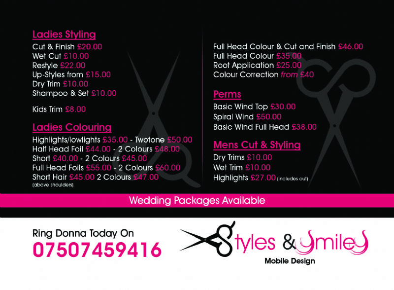 Styles And Smiles Mobile Hair Dresser Hairdresser