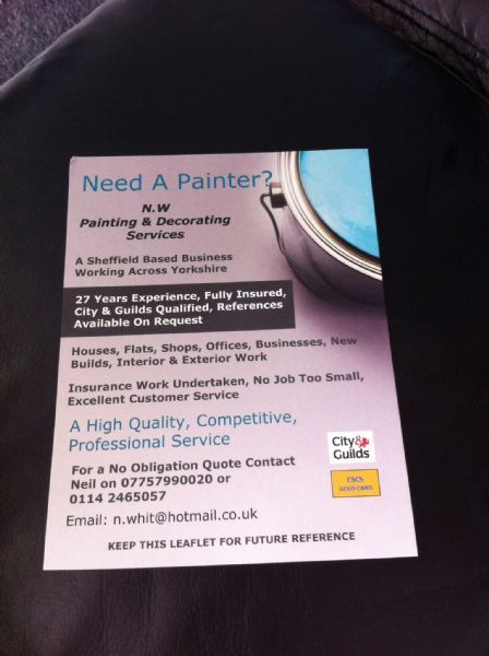 N W Painting Amp Decorating Services Sheffield 22 Reviews