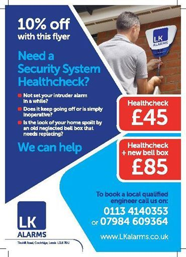 Lk Alarms Intruder Alarm System Supplier In Cookridge
