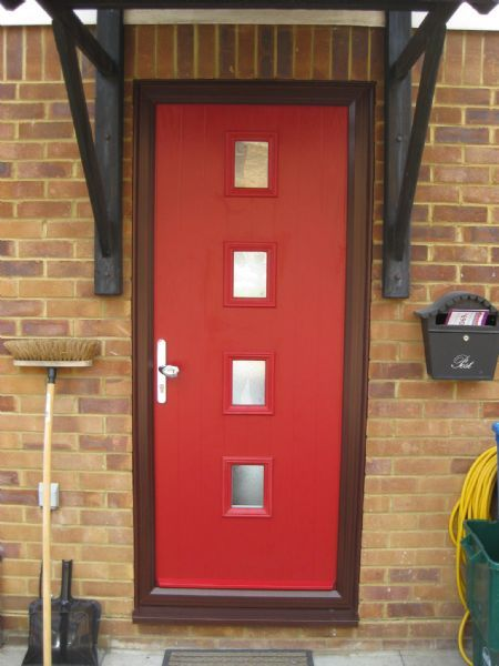 Stunning Composite Front Doors Red Contemporary - Best Image Home ...