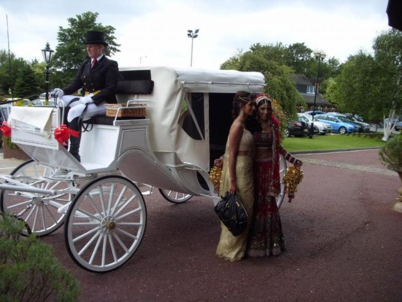 Asian carriage wedding