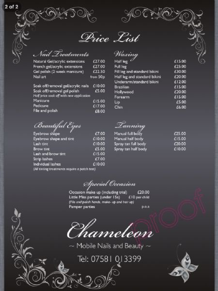 Chameleon mobile nails and beauty, Liverpool | Mobile ...