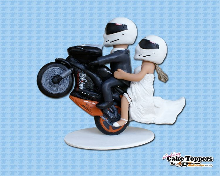 motorbike wedding cake wedding cake toppers by concrete lobster cake topper 17597