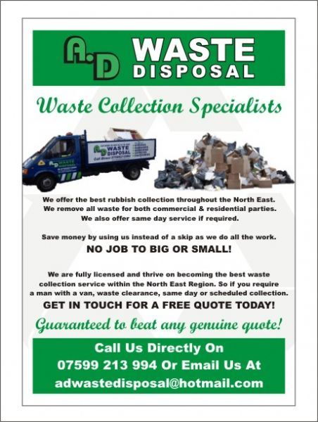 Ad Waste Disposal Newcastle Upon Tyne 1 Review Waste Disposal Company Freeindex