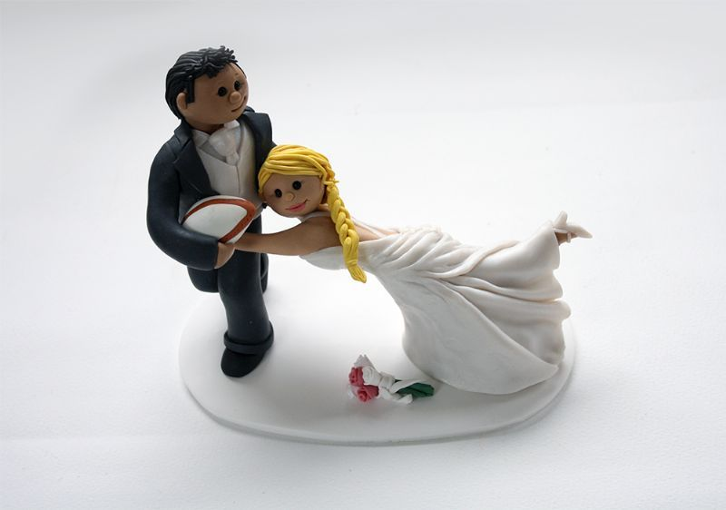 rugby themed wedding cake toppers birdseed keepsakes cake topper maker in hove uk 19467