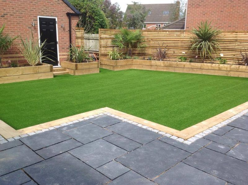 Lawn land artificial grass artificial grass supplier in for Images of back garden designs