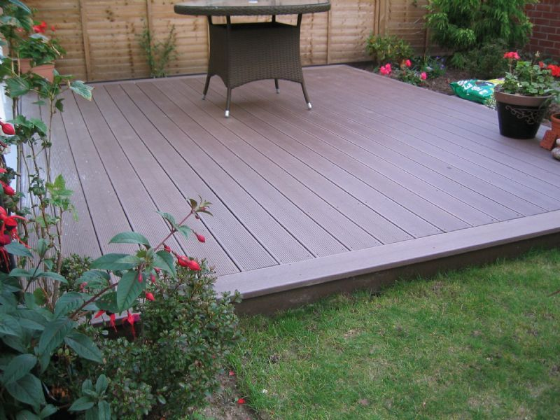 Uk composite decking home and garden company in wrexham uk for Garden decking companies