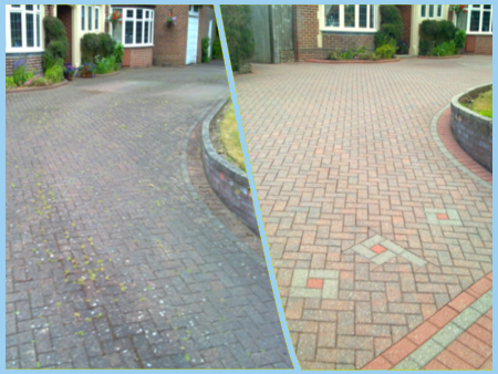 White rose driveway cleaning pressure washing company in for Pressure washer driveway cleaner