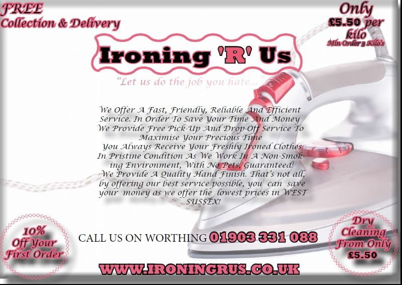 Ironing r us worthing ironing service freeindex for Ironing service flyer template