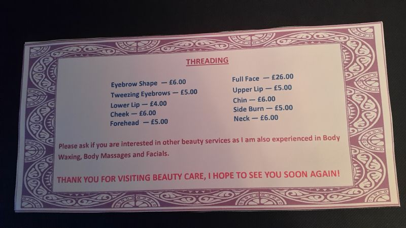 Sa Beauty Care Bicester Eyebrow Threading Specialist Freeindex