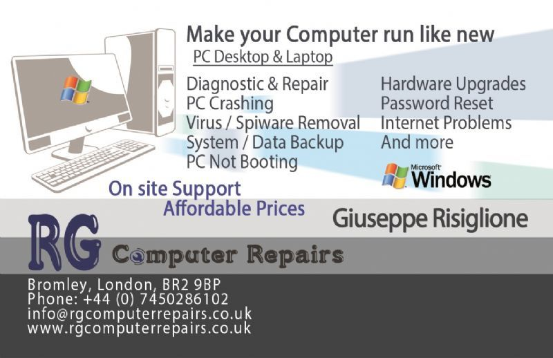 Computer repairs business card idealstalist computer repairs business card reheart Image collections