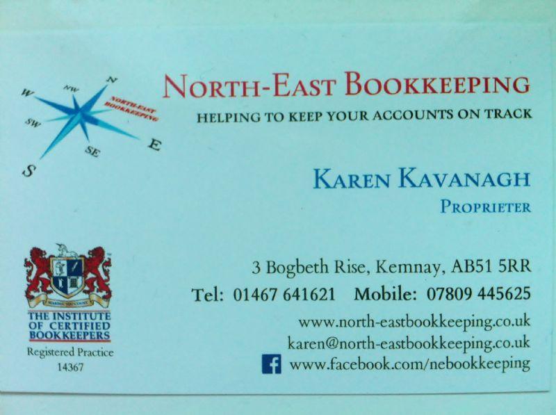 North east bookkeeping bookkeeper in kemnay inverurie uk north east bookkeeping reheart Choice Image